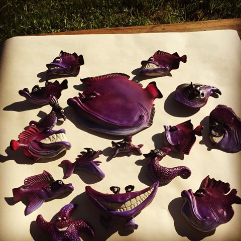 Purplicious fishes!