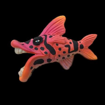 Wild Print Minka Fish Art