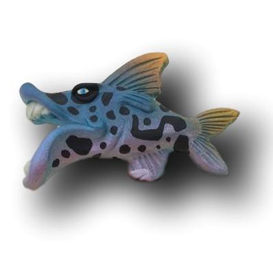 Blue Wild Print Minka Fish Art