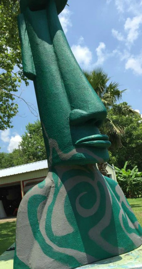 Tiki Head - Artist Mike Quinn