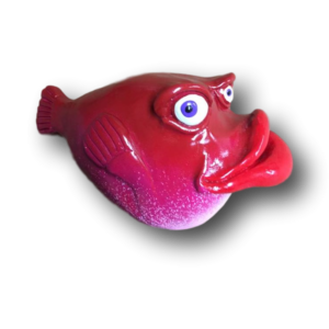 Dark Pink Dr. Billy Bunko Fish with Attitude