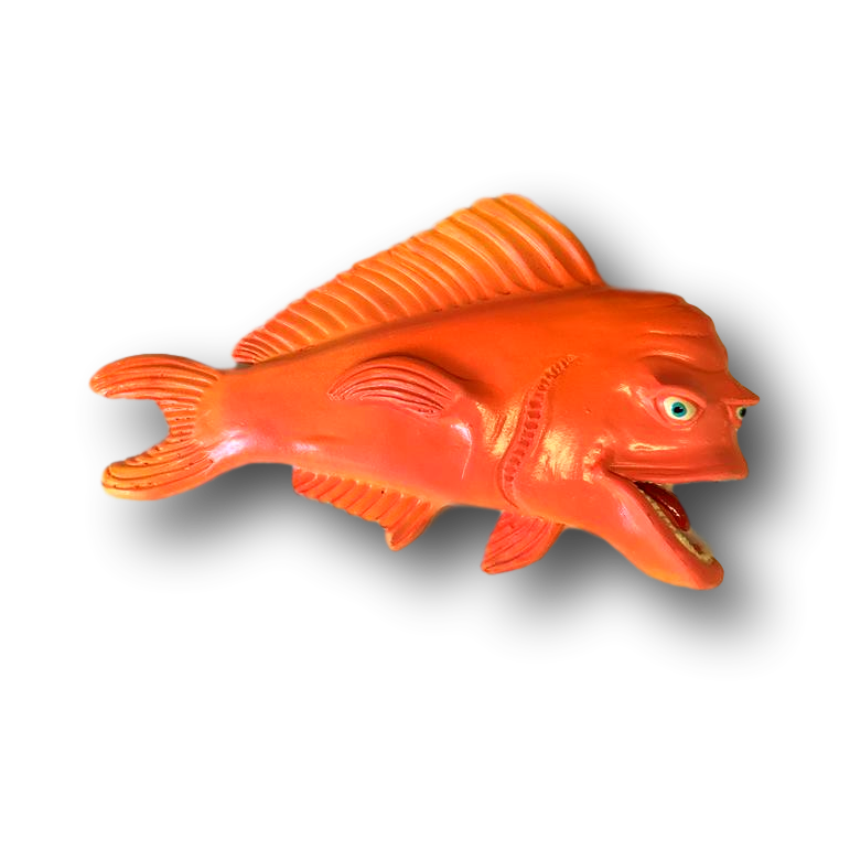 Orange Little Woody Fish With Attitude Wall Decor Fish With