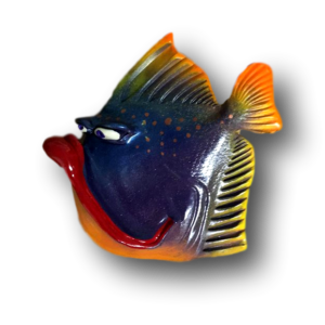 Blue Purple Zekey-Boy Fish with Attitude