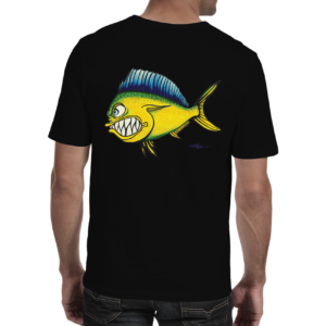 "Mike Quinn ""Mahi Mahi"" Adult Shirt 100% Cotton"