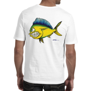 "Mike Quinn ""Mahi Mahi"" Adult Shirt 100% Cotton"