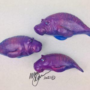 The Snooty Family - Fish With Attitude - Manatee- Purple